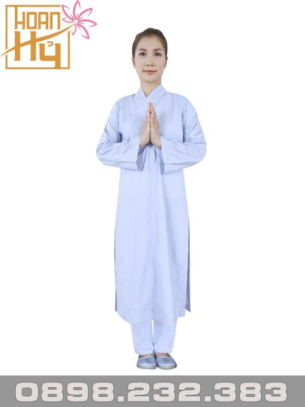 Áo tràng lam cho Phật tử nữ vải kate cao cấp